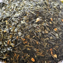 thé vert citron, mandarine, lavande